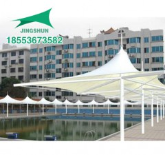 泰安凤凰城游泳池膜结构小品