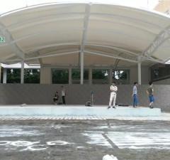 安徽理工大学医学院办公楼通道膜结构
