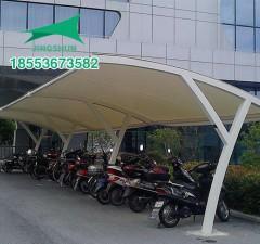 菏泽供水公司膜结构自行车棚