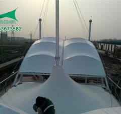 陕西景陶玻璃厂区大门膜结构