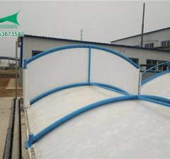 鹤壁元昊化工厂污水池加盖膜结构