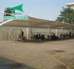 滨州阳信万安小区膜结构自行车棚