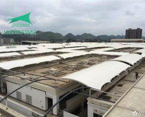 遵义贸易市场膜结构通道遮阳棚